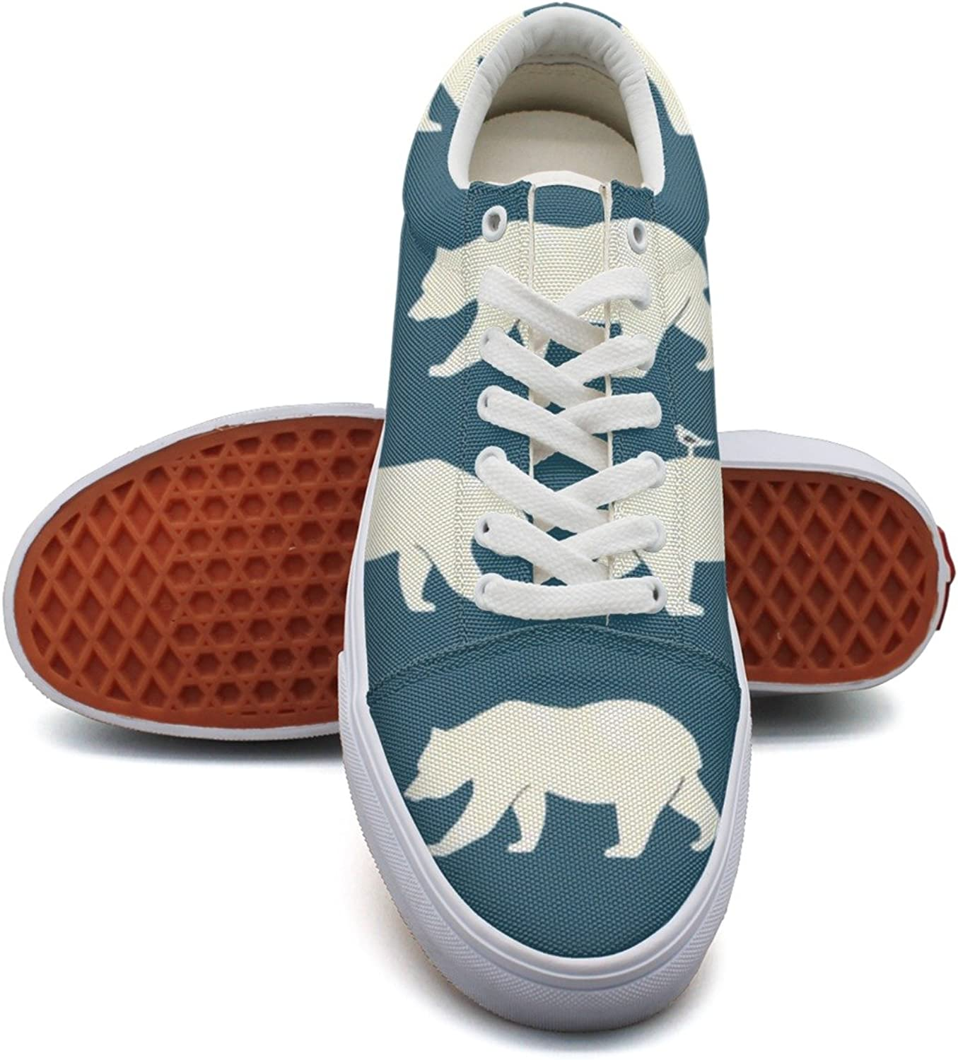 Bears Bear Repeat bluee Fashion Canvas Sneaker shoes For Womns 3D Printed Low Top shoes