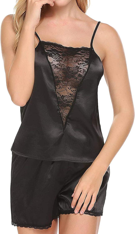 AODONG Sleepwear for Women Long Sleeve Women's 10 Piece Outfit Sleeveless Crop Top Shorts Set