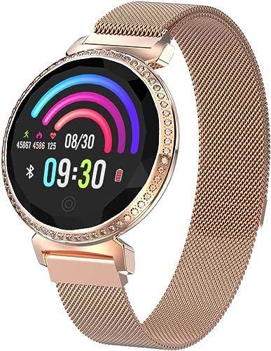 RUIXFWA Bracelet pour Femme à la Mode Smart Cycle Physiologique Surveillance de la santé Bracelet Multi-Sports