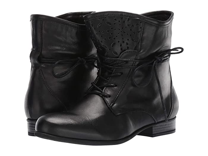 1920s Style Shoes Eric Michael Ivy Black Womens Boots $161.10 AT vintagedancer.com