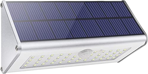 【2021 Nueva Tecnología】Licwshi Luces de Pared Solar de Seguridad al Aire Libre, 1100lm 46 LED 4500mAh Aleación de Alu...