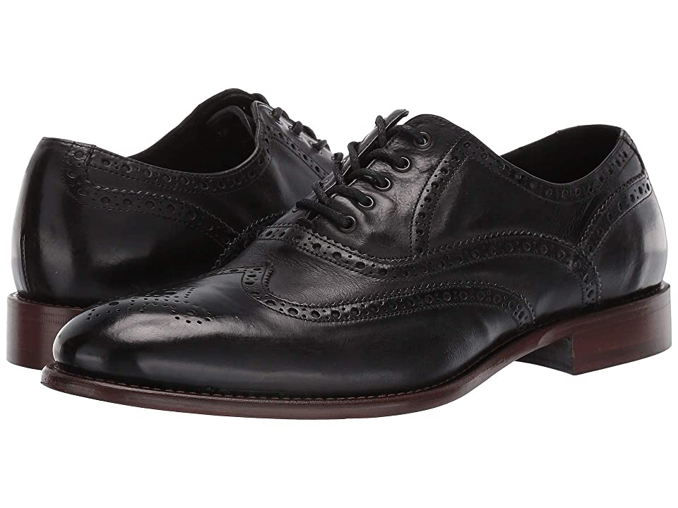 1940s Mens Shoes | Gangster, Spectator, Black and White Shoes JM EST. 1850 Bryson Wingtip Black Mens Shoes $285.00 AT vintagedancer.com