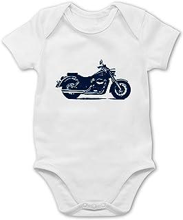 Shirtracer Fahrzeuge Baby - Motorrad - Baby Body Kurzarm für Jungen und Mädchen