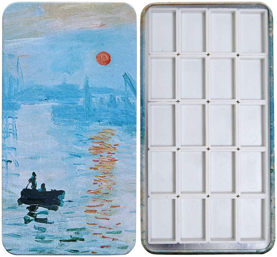 FCLUB Watercolor Palette Paint Tin New mail order Plastic White 20pcs Case with Max 77% OFF