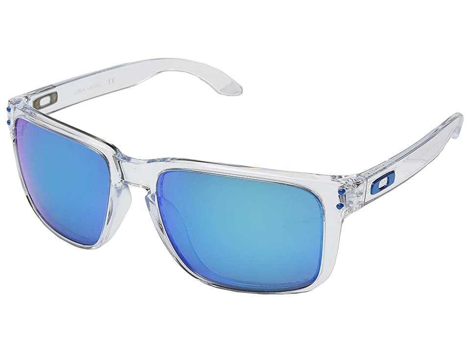 Oakley Holbrook XL SGH Exclusive (Polished Clear w/ Prizm Sapphire Polarized) Athletic Performance Sport Sunglasses