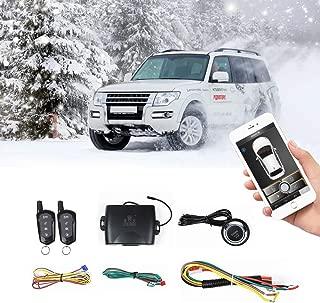 Universal Car Remote Starter Keyless Entry One Key Engine Start for Car with Shock Sensor Car Alarm System Remote Key or Phone Control