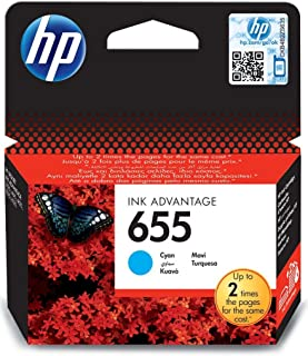 HP 655 Cyan Original Ink Advantage Cartridge - CZ110AE