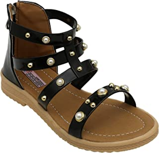 D'chica Stylis Babe Ankle Length Gladiators for Girls Fashion Sandals