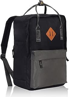 Water Resistant Backpack Lightweight Handle Daypack (Black Gray)