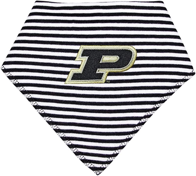 Purdue University Striped Baby Bandana Bib