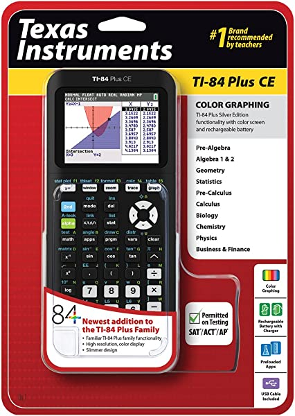 Texas Instruments TI 84 Plus CE Graphing Calculator Black