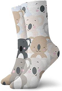 Jhonangel, Divertido Lovely Cartoon Koala Bear Mujeres Hombres Casual Impreso Funny Crew Calcetines Gym Calcetines Crazy Socks Novedad Calcetines de vestir 30 cm / 11.8 pulgadas
