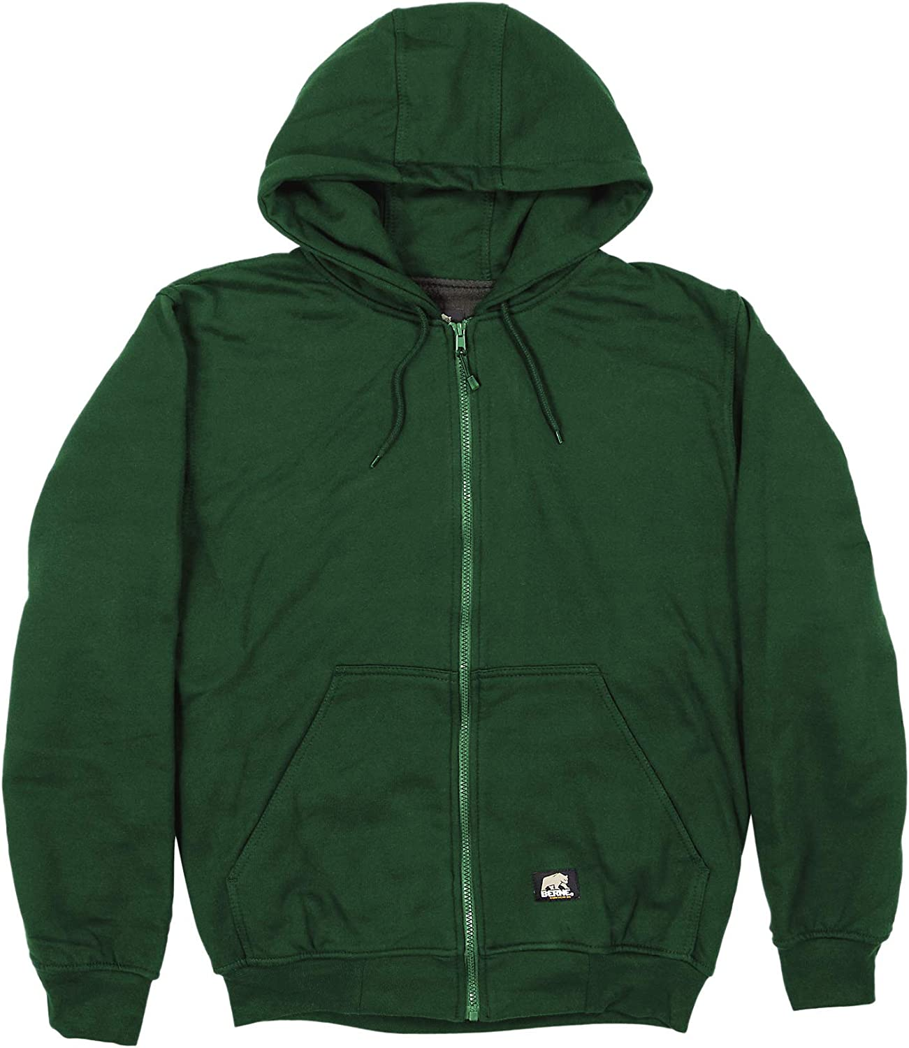 Berne Men's Thermal Lined Hooded Sweatshirt, 2X-Large Tall, Green