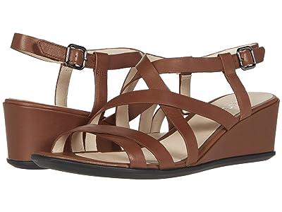 ECCO Shape 35 Wedge Sandal (Cinnamon Cow Leather) Women