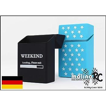 2 Cajas de Cigarrillos de Silicona – Weekend y Estrellas – Funda para Cigarrillos – Adecuado para una Caja de Cigarrillos en tamaño estándar – también Apto para Las Nuevas 21 Cajas: Amazon.es: Hogar