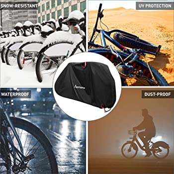 Universal Waterproof Rain Bike Cycle Bicycle Outdoor Protection Cover Black E5T8