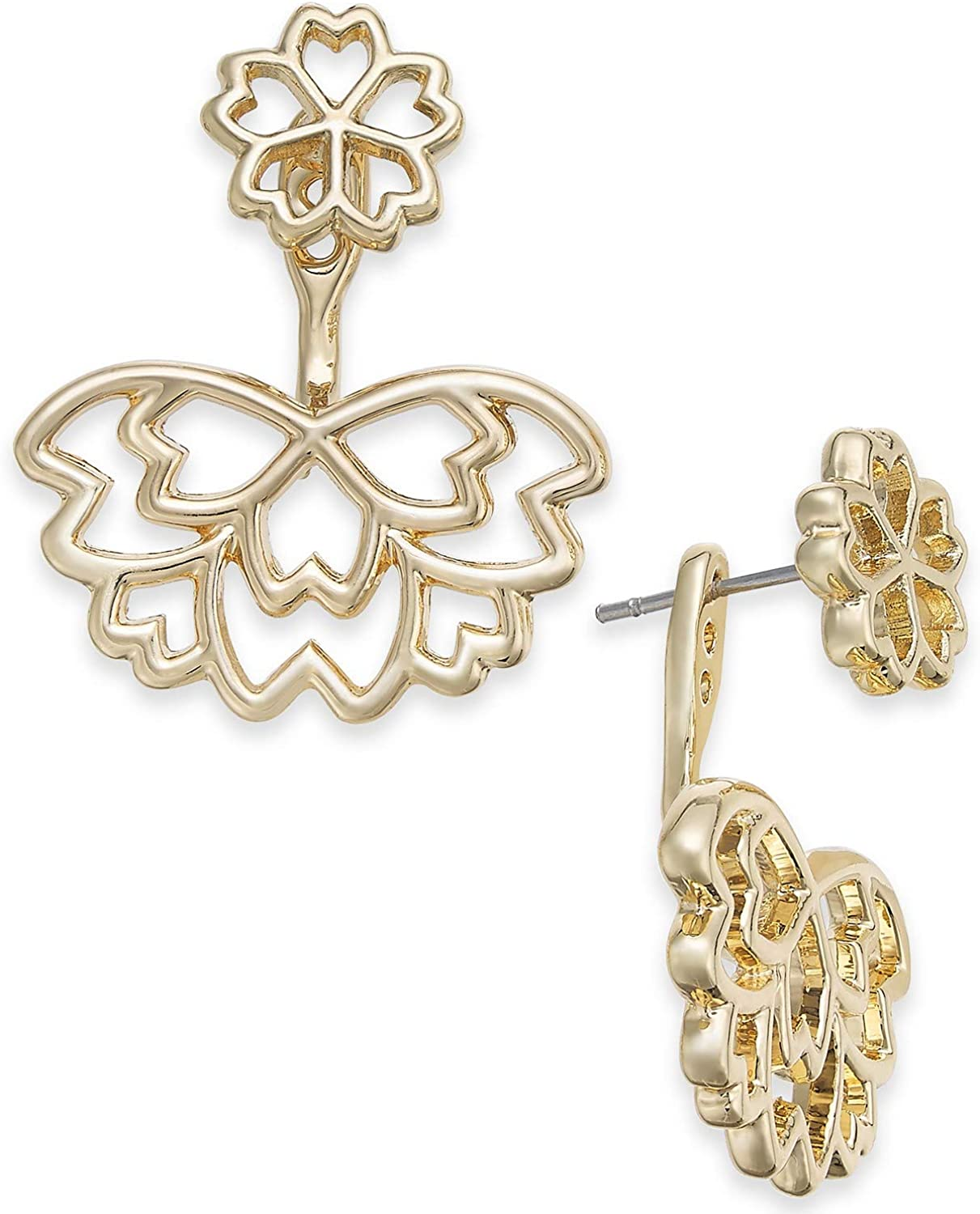 INC International Concepts I.N.C. Flower Jacket Earrin Gold-Tone Max 76% OFF security