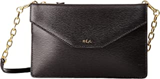 Lauren Ralph Lauren Newbury Erika Small Crossbody Bag for Women, Leather - Black