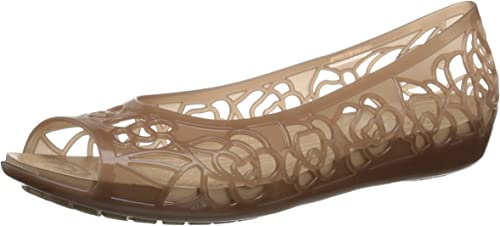 Crocs Isabella Jelly Flat femmes, Ballerines Femme