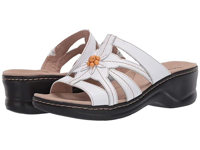70s Outfits – 70s Style Ideas for Women Clarks Lexi Myrtle 2 White Leather Womens Shoes $59.99 AT vintagedancer.com