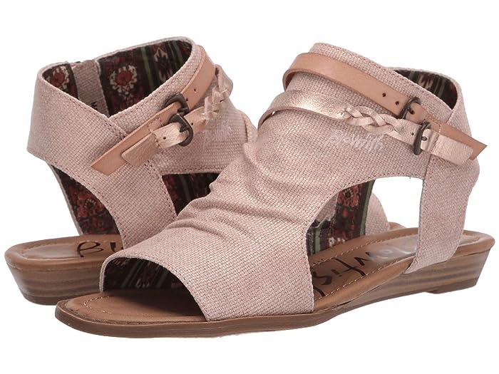 Blowfish  Blumoon (Rose Gold Rancher/Blush Exotic) Womens Sandals