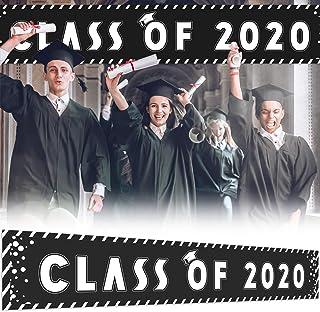 Großes Schild Klasse 2020 Banner, 24,8 x 4,6 m, Schwarz