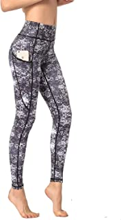 Cutie Keer Printed Yoga Pants for Women with Side Pockets Workout Running Super Soft High Waist Tummy Control Leggings