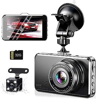 【令和2年モデル】ドライブレコーダー 前後カメラ 1296PフルHD 32GBカード付き Sony 1/2.7型CMOSセンサー 170度広角 夜間撮影 エンジンON/OFF 自動緊急録画 駐車監視 動体検知 リバース連動 上書き録画 G-se...