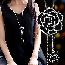 Lange Kettingen voor Vrouwen 2021 Mode Grijs Kristal Choker Collier Femme Verklaring Kettingen & Hangers Accessoires