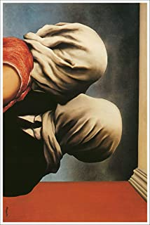 American Gift Services - Artist Rene Magritte Fine Art Poster Print of Painting The Lovers - 24x36