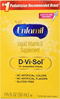 Enfamil D-Vi-Sol Vitamin D Supplement Drops 50 mL (Packs of 2)