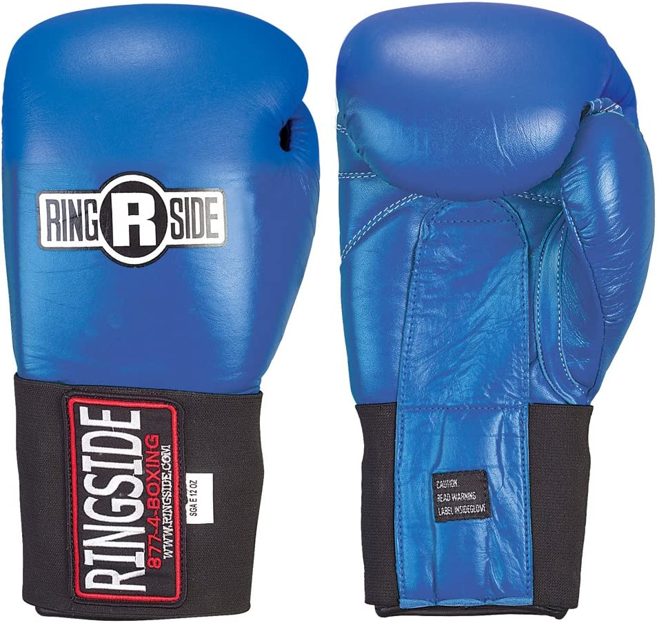 Ringside Competition Safety Gloves - Hook & Loop (Blue, 10-Ounce) : Sports & Outdoors