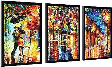 Liefhebbers in de regen romantische film poster en afdrukken muur kunst geschenken decor frame-stijl1 28 × 40 inch (70 × 1...