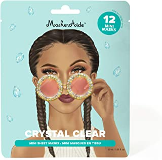 Sponsored Ad - MaskerAide Crystal Clear, Brightening Mini Masks with Pearl Extract, Niacinamide, Hyaluronic Acid & Adenosi...