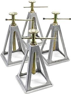 Aluminium krikstandaard voor caravans en aanhangwagens, 4 stuks assenstatief