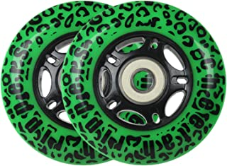 Cheetah Rippers Wheels for Ripstik Wave Board with ABEC 9 Bearings, 76mm, Set of 2