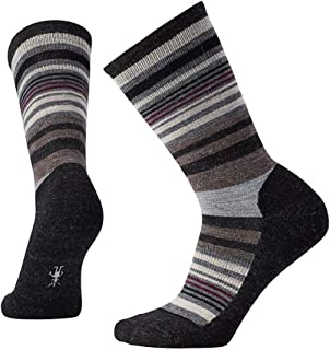 PhD Outdoor Light Crew Socks - Women's Jovian Stripe Wool Performance Sock