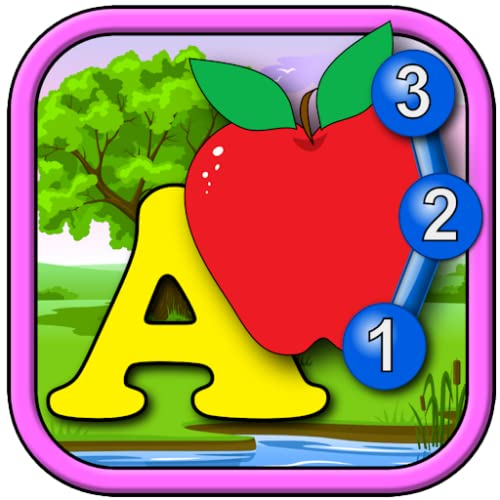 ABC crianças contando se juntar e conectar o ponto de quebra-cabeça jogo - aprender o alfabeto contando as formas e os números apropriados para crianças em idade pré-escolar da criança e do jovem 2 +
