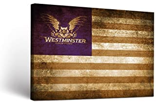 Victory Tailgate Westminster College Griffins Canvas Wall Art Vintage Flag Design