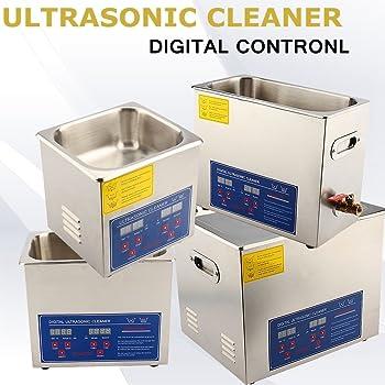 3 L Sfeomi Pulitore Ultrasuoni Industriale in Acciaio Inossidabile Pulitore ad Ultrasonic Digitale con Riscaldatore e Timer per Gioielli Orologi Protesi Dentarie Anelli Occhiali