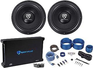"""$374 » (2) Rockville W12K6D2 V2 12"""" 4800w Car Audio Subwoofers+Mono Amplifier+Amp Kit"""
