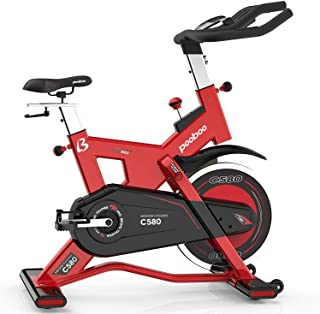 L NOW Pro Indoor Cycling Bike Smooth Belt Driven Exercise Bike and 40lb flywheel-Commercial Standard