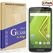 [2-Pack] Motorola Moto Droid Maxx 2 Tempered Glass, Moto X Play Screen Protector, Zeking 0.33mm 2.5D Edge 9H Hardness [Anti Scratch][Anti-Fingerprint] Bubble Free, Lifetime Replacement Warranty