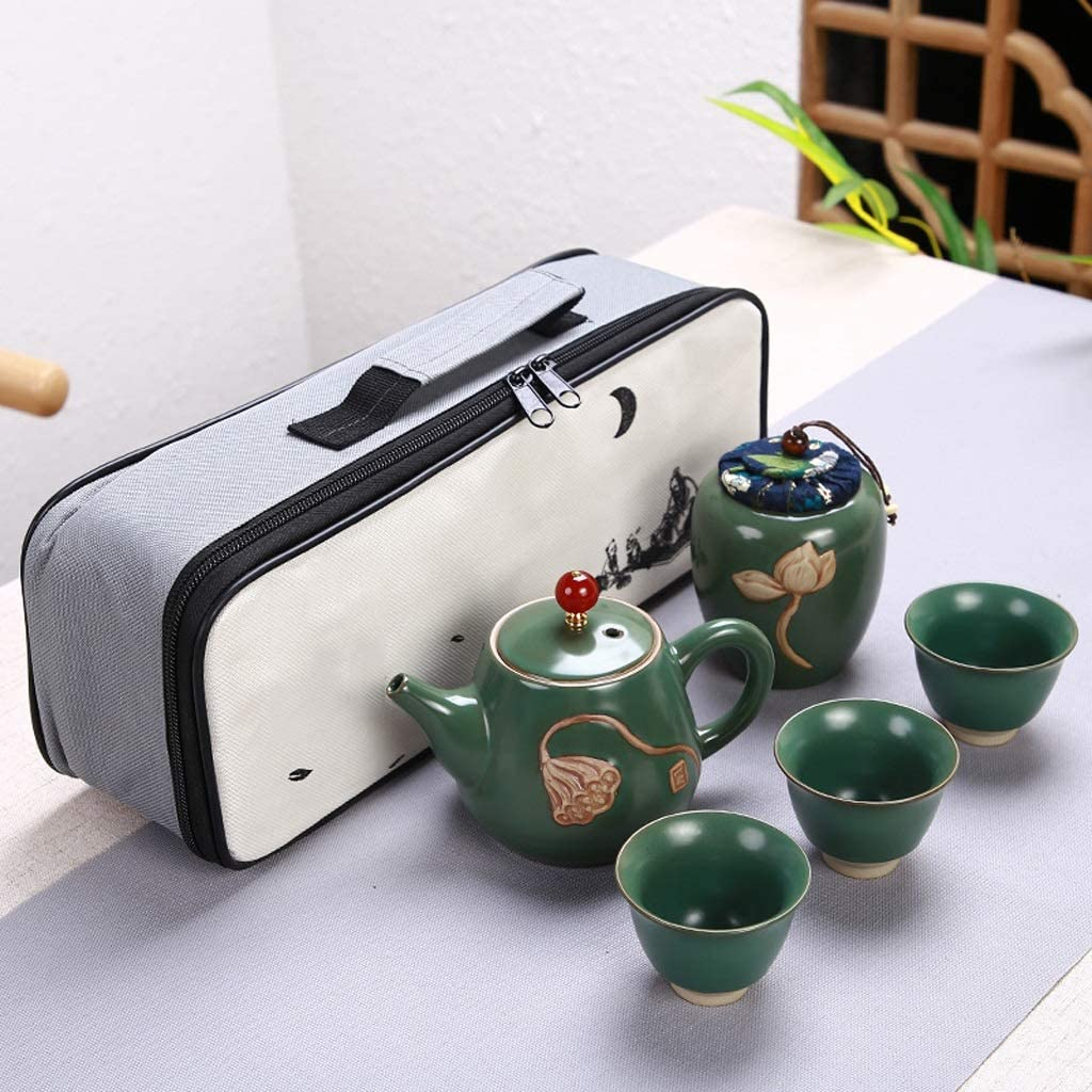 DIAOD Ceramic Teapot One Pot Three 2021 autumn Financial sales sale and winter new Fu T Cups Kung Outdoor Travel