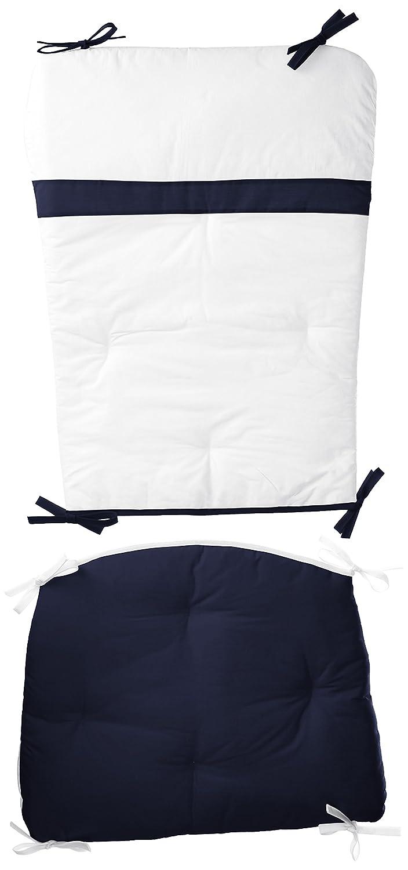 Baby Doll Bedding Rocking Chair Cushion Pad Set, Navy