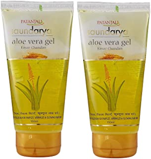Patanjali Saundarya Aloe Vera Kesar Chandan Gel - 150 ml (Pack of 2)