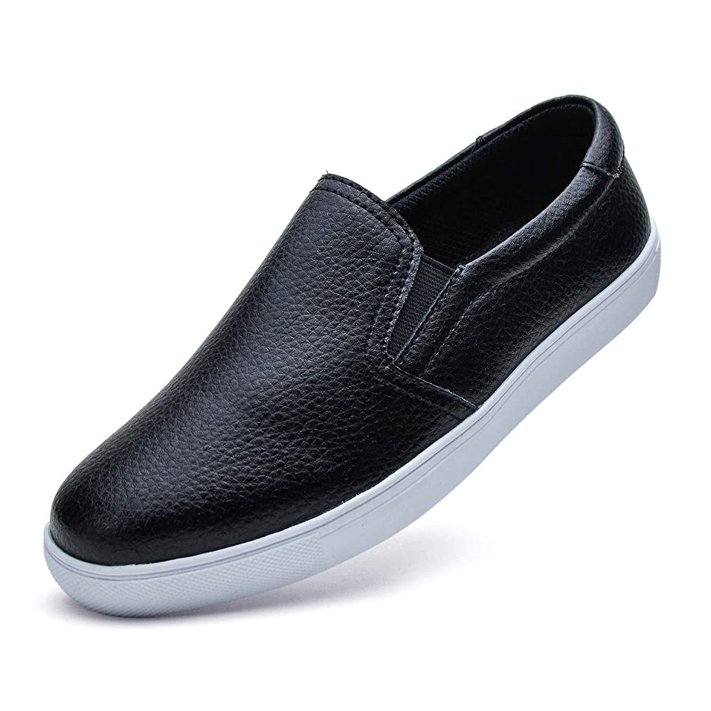 YiCeirnier Women's Fashion Sneakers Slip On Shoes Leather Flat Driving Shoes
