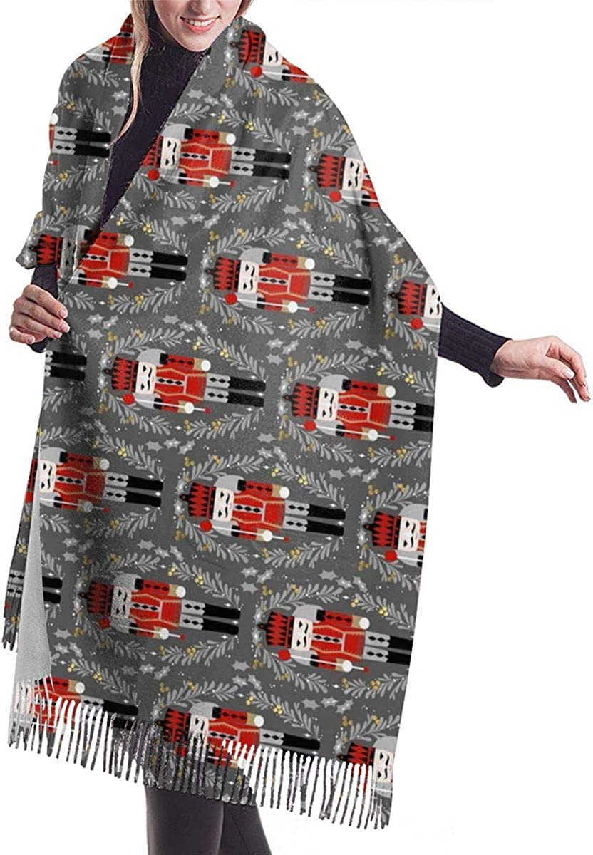 Nutcracker Christmas Women's Winter Warm Scarf Fashion Long Large Soft Cashmere Shawl Wrap Scarves