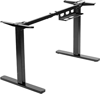 VIVO Electric Stand Up Desk Frame for 38 to 75 inch Table Tops, Frame Only, Single Motor Ergonomic Standing Height Adjusta...