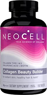 NeoCell Collagen Beauty Builder, for Radiant Skin, Healthy Hair & Nails, 150 Tablets (Package May Vary)